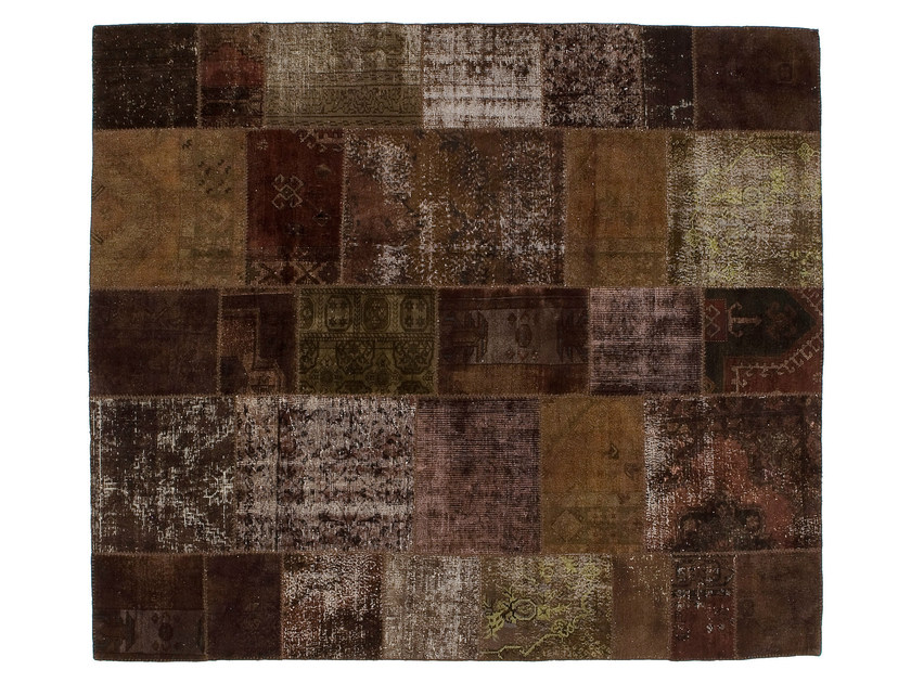 Vintage style patchwork rug PATCHWORK BROWN by Golran
