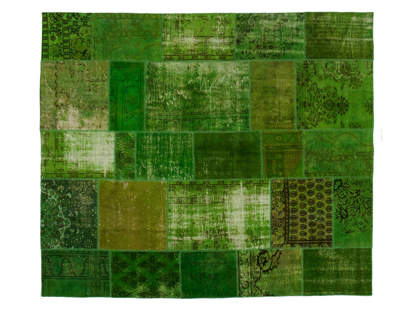 Vintage style patchwork rug PATCHWORK GREEN - Golran