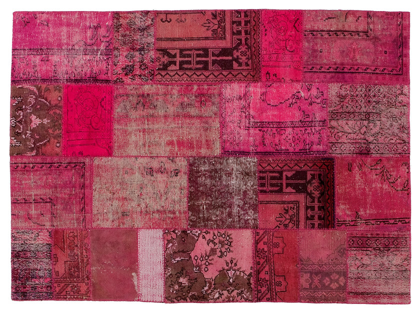 Vintage style patchwork rug PATCHWORK PINK by Golran