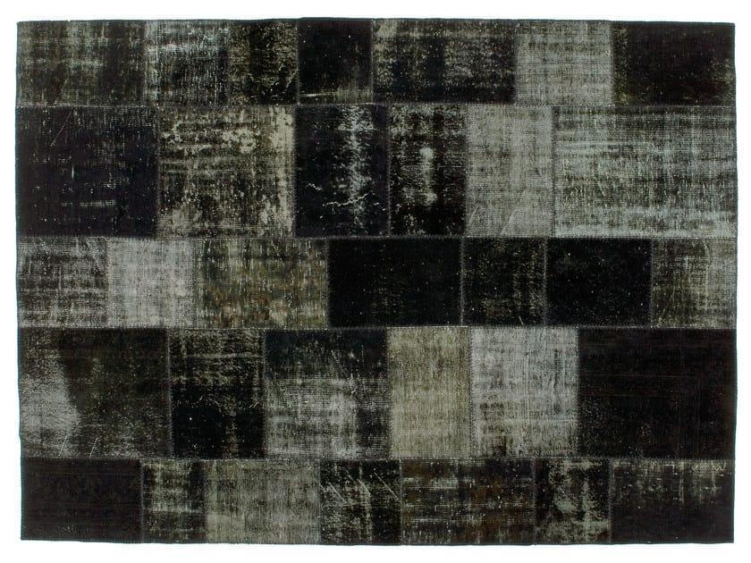 Vintage style patchwork rug PATCHWORK BLACK - Golran