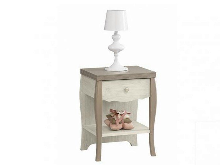 Rectangular wooden bedside table with drawers DEMOISELLE | Bedside table - GAUTIER FRANCE