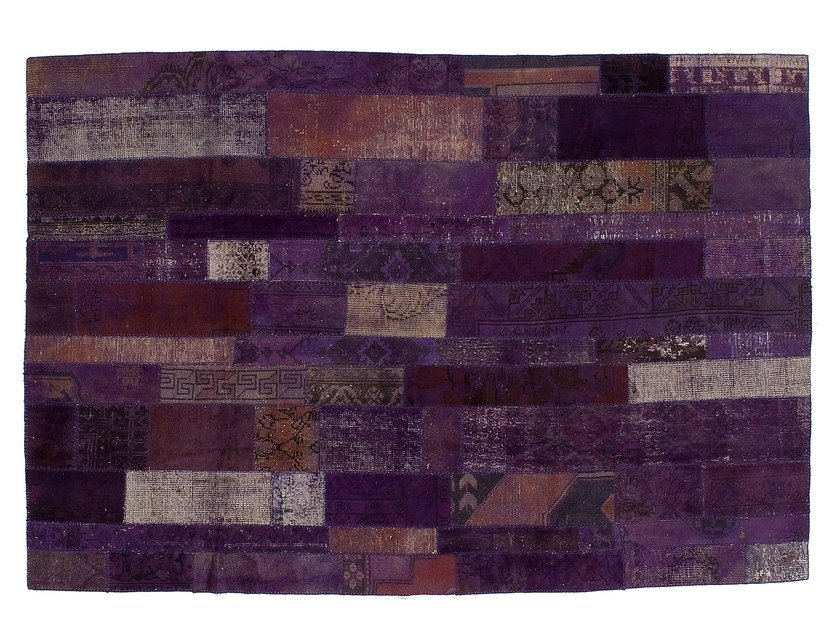 Vintage style patchwork rug PATCHWORK RESTYLED PURPLE - Golran