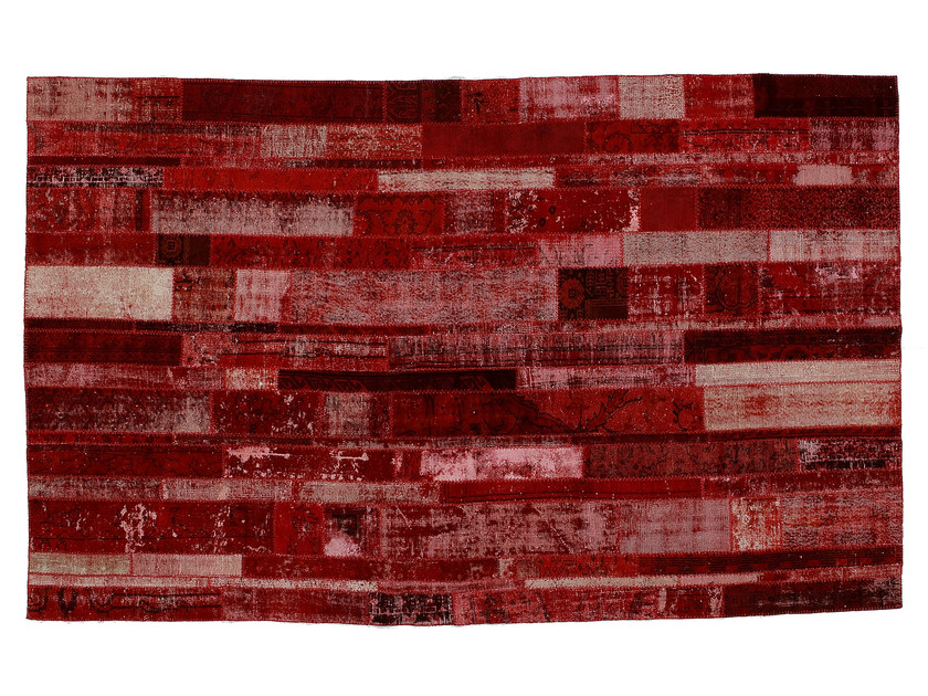 Vintage style patchwork rug PATCHWORK RESTYLED RED - Golran