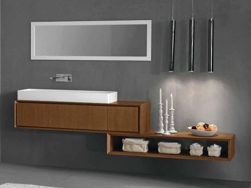 Wall-mounted oak vanity unit K.ONE | Oak vanity unit - RIFRA