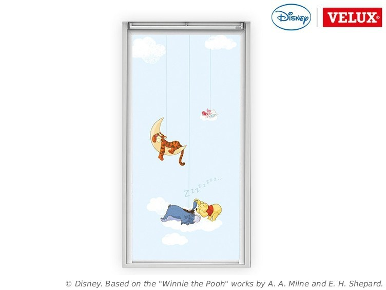Dimming fabric skylight shade Winnie the Pooh 1 - VELUX