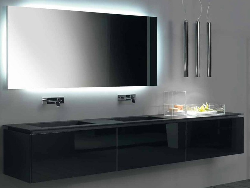Lacquered wall-mounted vanity unit TIMELESS - RIFRA