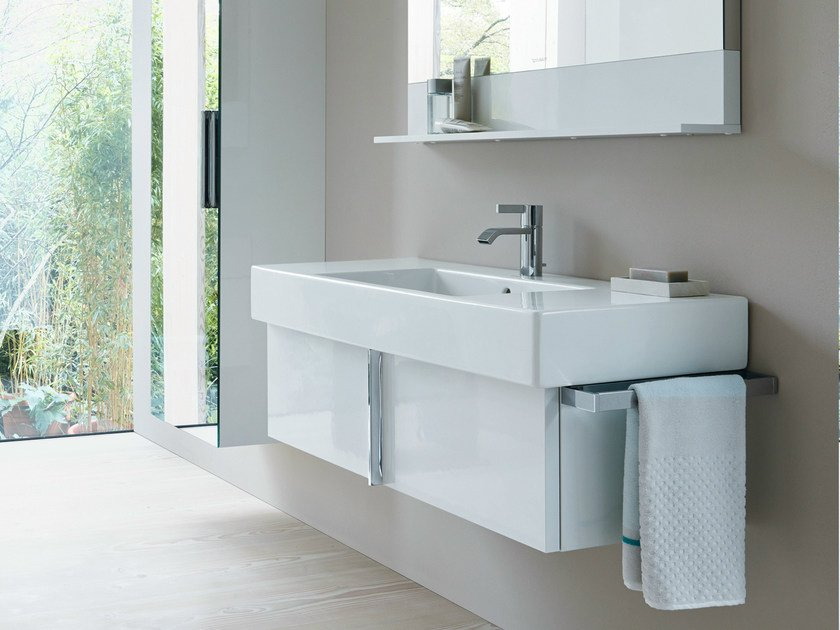 Single wall-mounted vanity unit VERO | Vanity unit with drawers - DURAVIT