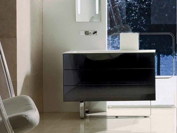 Lacquered vanity unit with drawers MODUS | Vanity unit - RIFRA