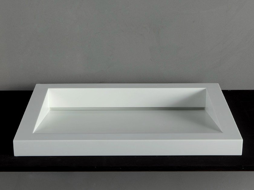 Countertop Corian® washbasin GAP-05 - RIFRA