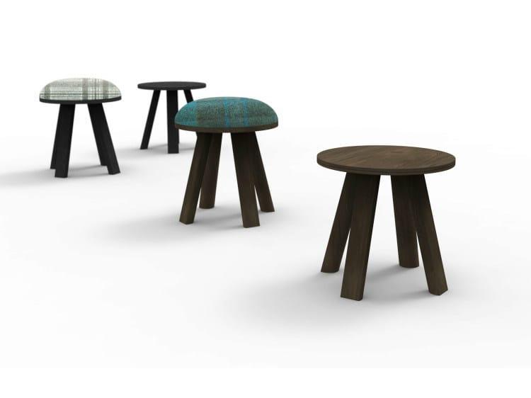 Low upholstered stool BUZZIMILK | Stool by BuzziSpace