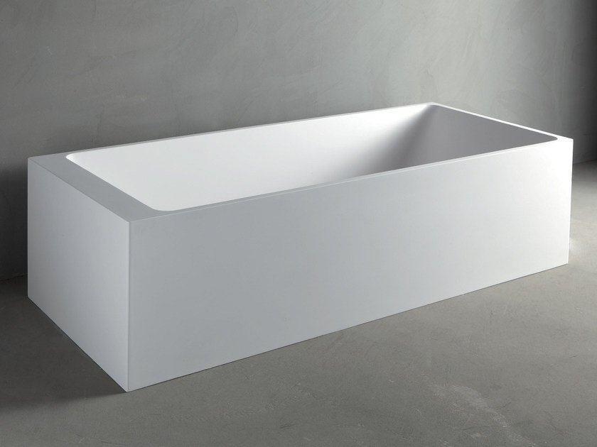 Rectangular Mineralmarmo® bathtub SQUARE - RIFRA