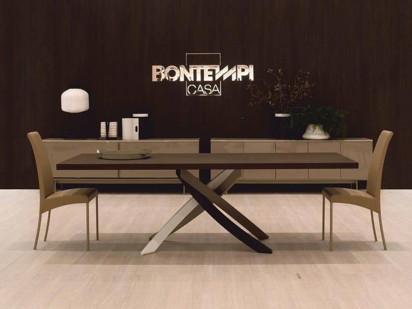 tavolo allungabile rettangolare artistico | tavolo in legno ... - Tavolo Allungabile Rettangolare