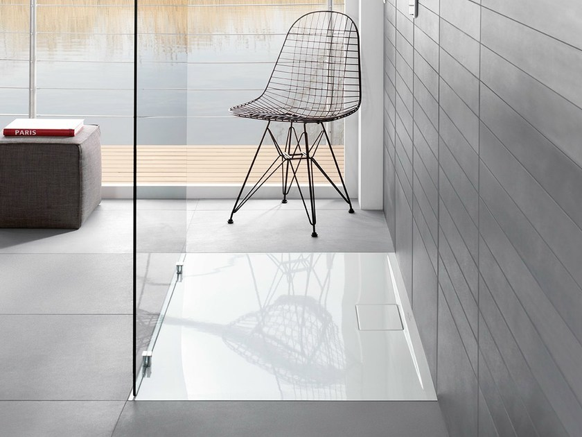 Extra flat acrylic shower tray ARCHITECTURA METALRIM | Shower tray by Villeroy & Boch