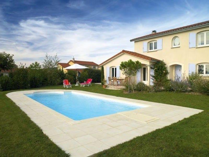 Reconstructed stone outdoor floor tiles PAVIMENTAZIONE PISCINA COLLEZIONE CLASSI by Desjoyaux