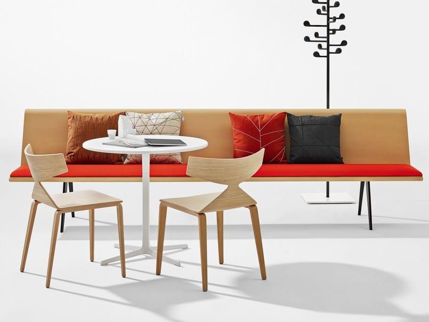 Modular multi-layer wood indoor bench ZINTA EATING by arper