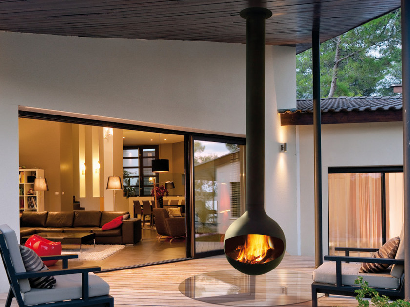 Outdoor fireplace BATHYSCAFOCUS | Outdoor fireplace by Focus creation