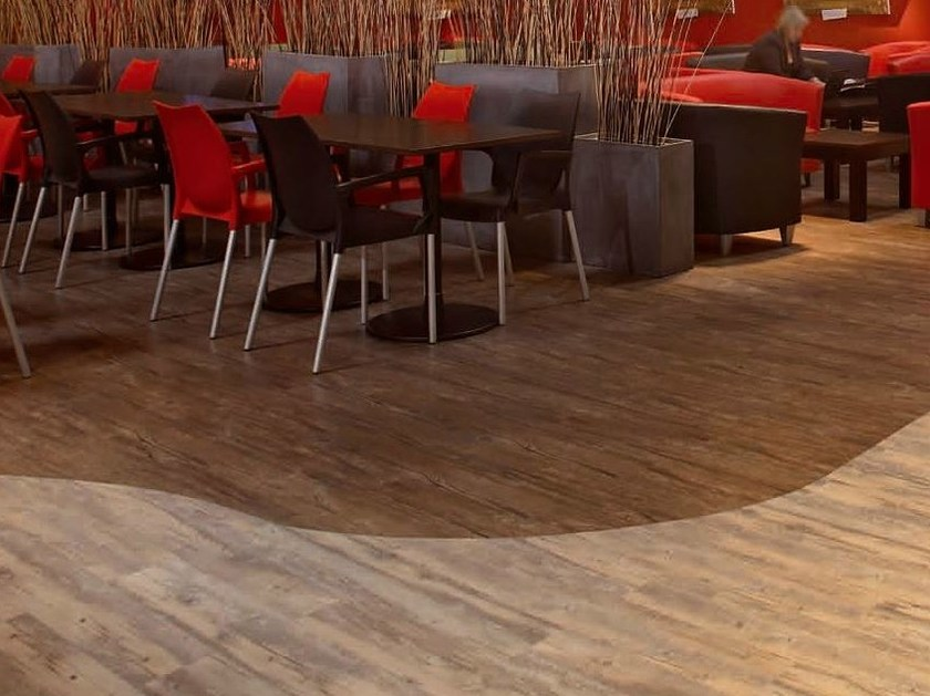 Antibacterial flooring with wood effect NERA CONTRACT - GERFLOR