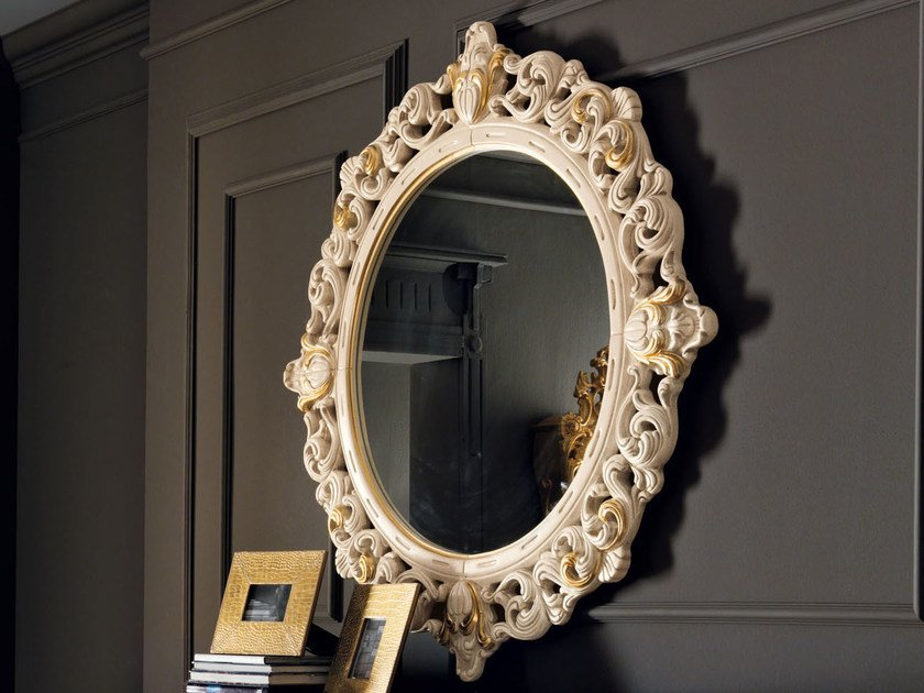 Wall-mounted framed mirror 11632 | Mirror by Modenese Gastone