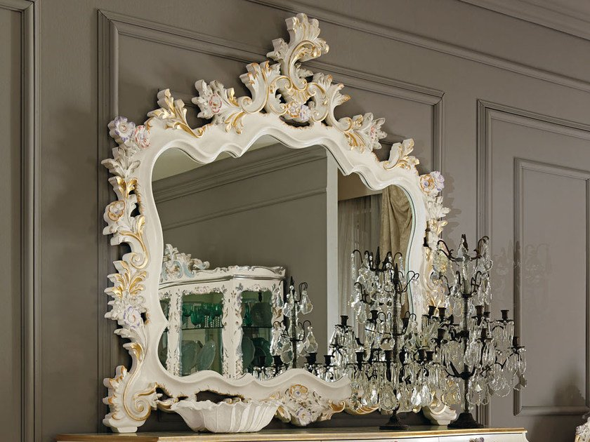 Baroque wall-mounted framed mirror 11625 | Mirror - Modenese Gastone group