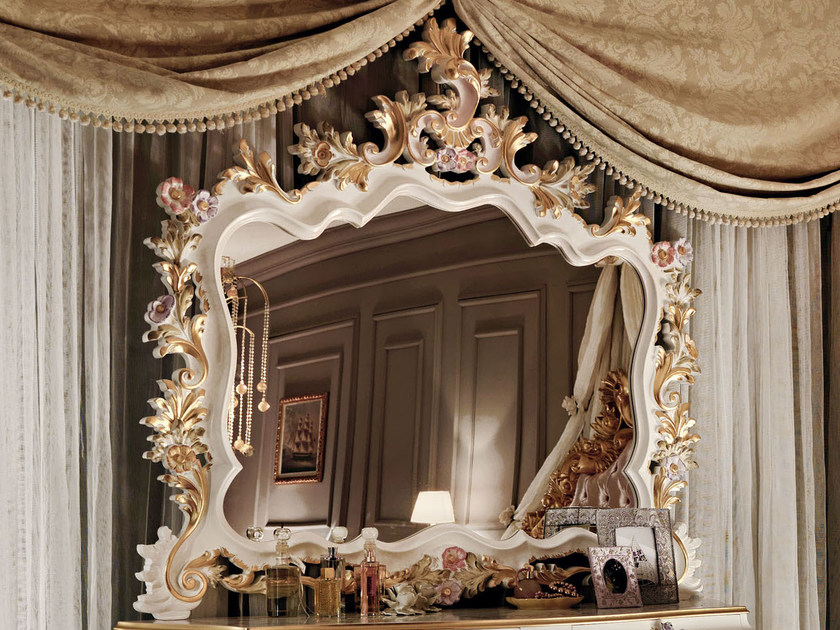 Wall-mounted framed mirror 11625 | Mirror - Modenese Gastone group