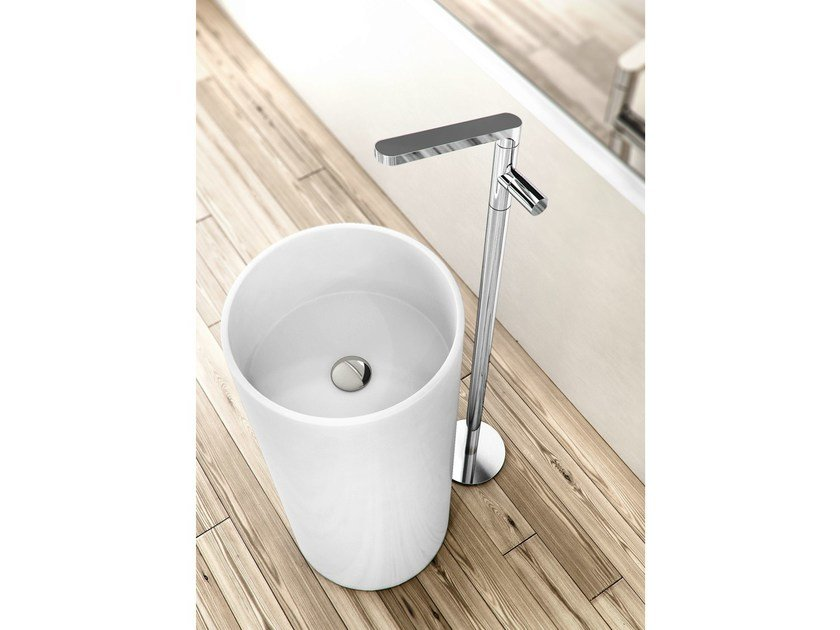 Chrome-plated washbasin tap with flow limiter NOMOS GO | Floor standing washbasin tap - FIMA Carlo Frattini