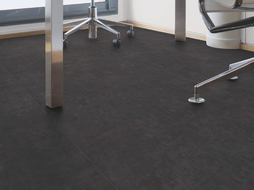 Synthetic material floor tiles with stone effect INSIGHT MINERAL - GERFLOR