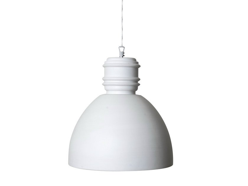 White-paste pendant lamp VIA RIZZO 7 | White-paste pendant lamp - Karman