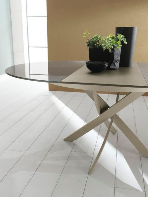 Tavolo ovale in cristallo barone tavolo allungabile - Tavolo in cristallo allungabile ...