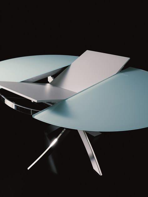 Tavolo ovale in cristallo BARONE  Tavolo allungabile - Bontempi