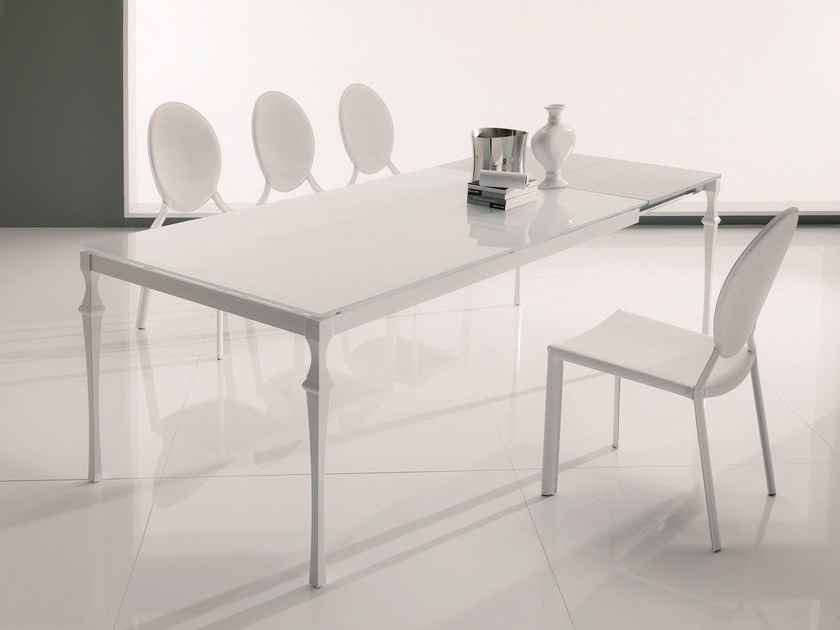 Rectangular crystal table CORINTO | Extending table - Bontempi Casa