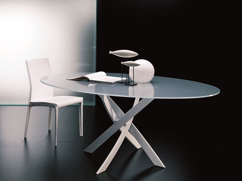 Contemporary style table BARONE | Oval table - Bontempi Casa