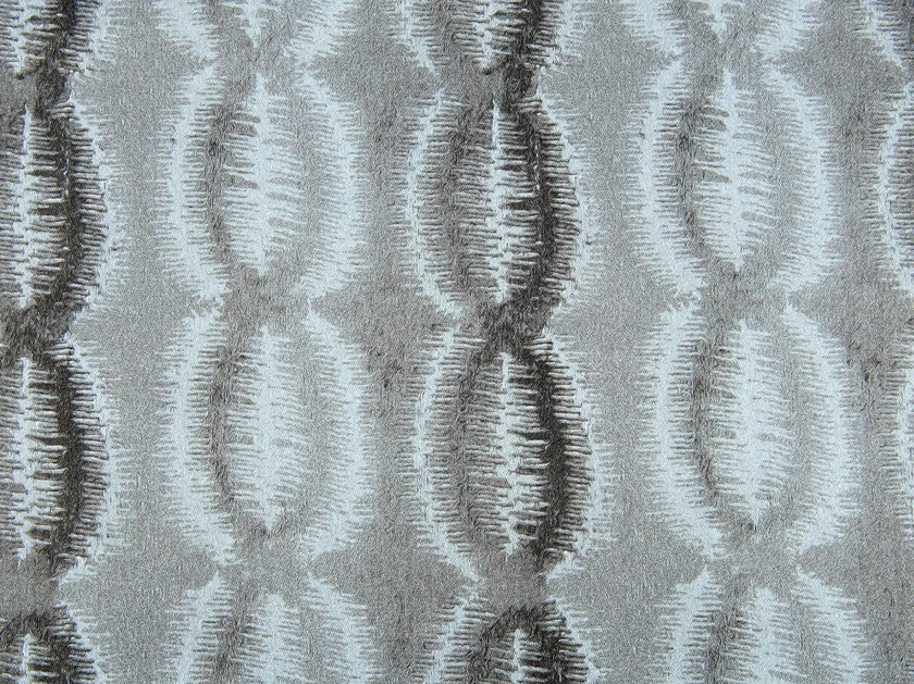Linen and cotton fabric with graphic pattern TOPEKA - KOHRO