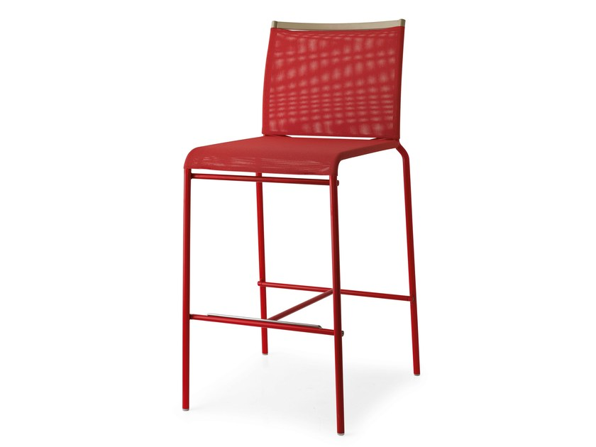 High mesh stool with back WEB | Stool by Calligaris
