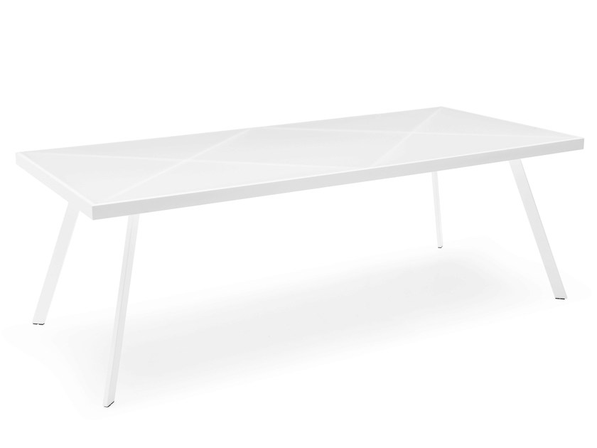 Rectangular glass and steel table FRAME | Rectangular table by Calligaris