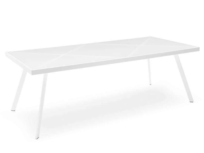Rectangular glass and steel table FRAME | Rectangular table - Calligaris