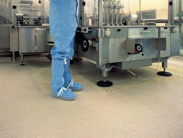 Antibacterial static dissipative flooring MIPOLAM ROBUST EL 7 - GERFLOR
