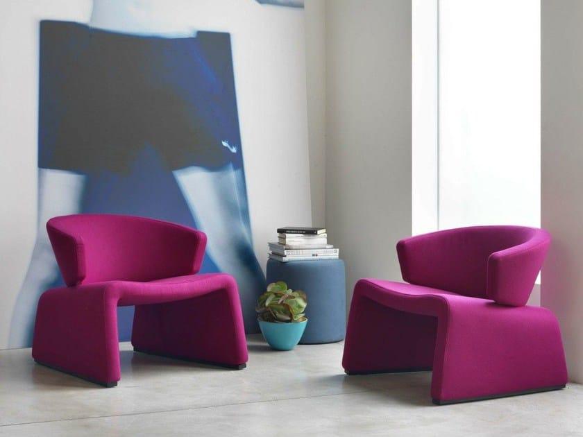 Upholstered fabric easy chair PUPA - Bontempi Casa