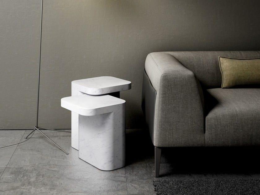 Carrara marble side table PETRA | Carrara marble coffee table - RETEGUI