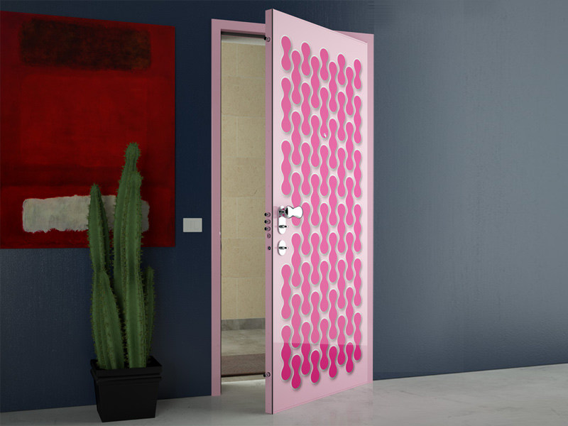Safety door with concealed hinges ESSENZIA - DI.BI. PORTE BLINDATE