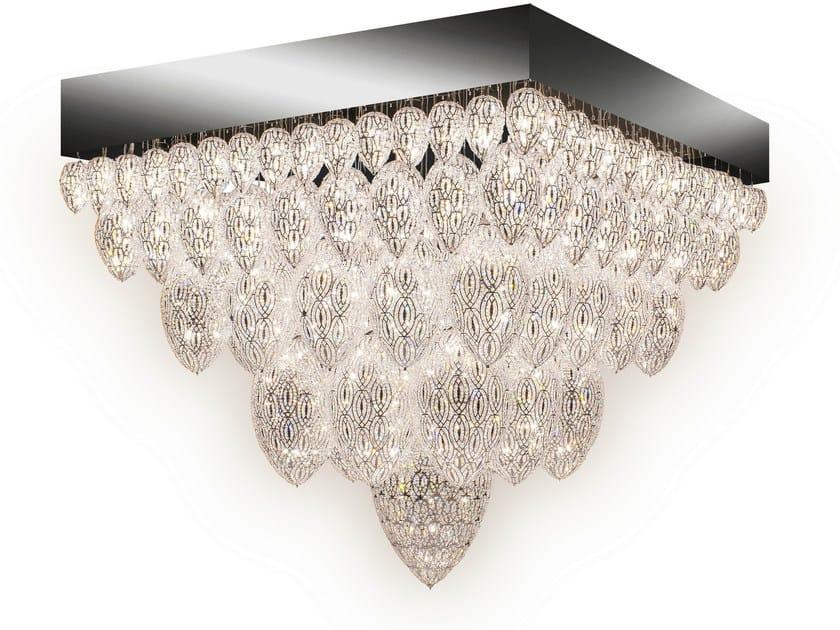 Steel ceiling light with crystals ARABESQUE TUTANKHAMON - VGnewtrend