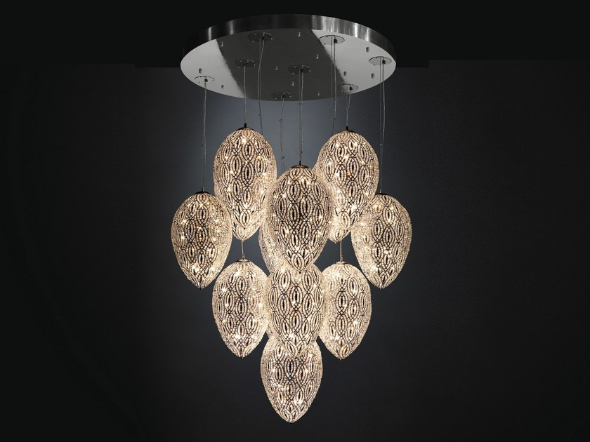 Pendant lamp with crystals ARABESQUE EGG | Pendant lamp with crystals - VGnewtrend