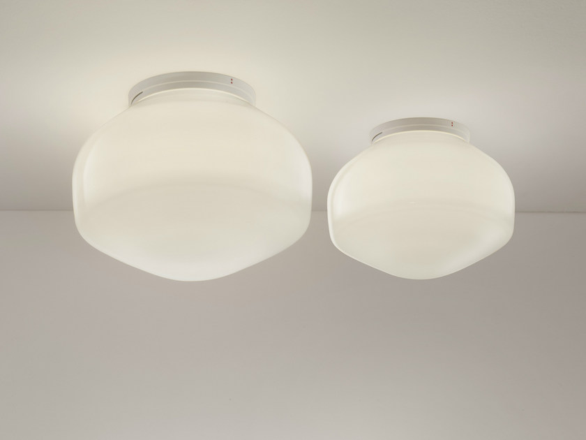 Blown glass ceiling / wall lamp AÉROSTAT | Ceiling lamp by Fabbian