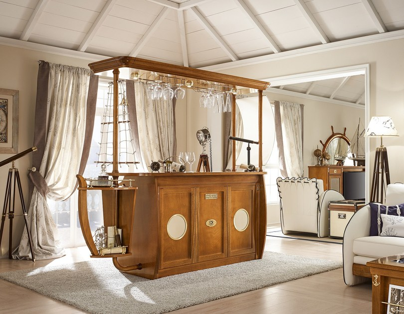 Wooden bar cabinet BAR CARAVELLA | Bar cabinet - Caroti