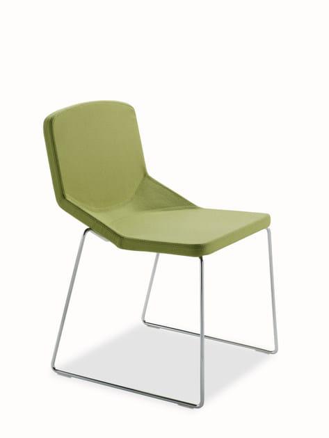 Sled base fabric chair FORMULA SLED FABRIC - AREA DECLIC