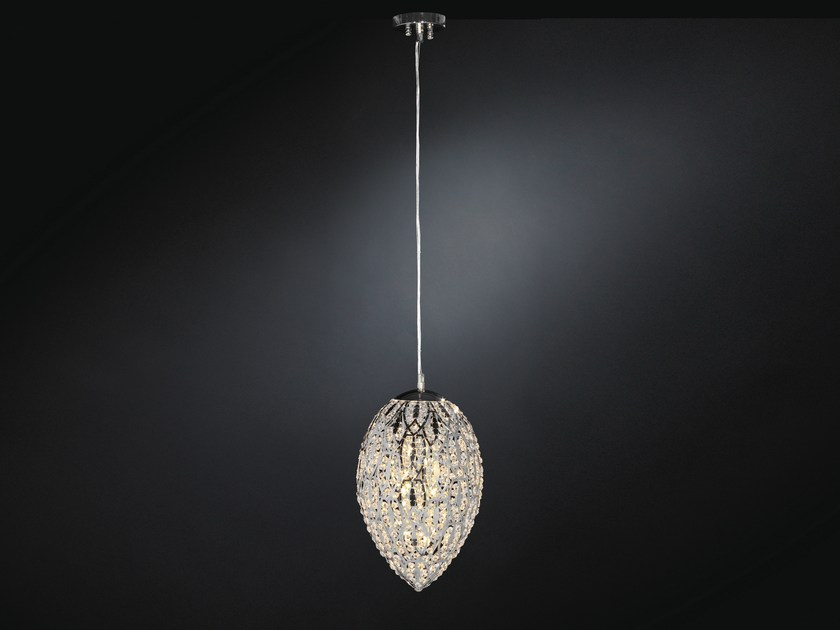 Classic style glass and steel pendant lamp ARABESQUE 7511332.98 - VGnewtrend