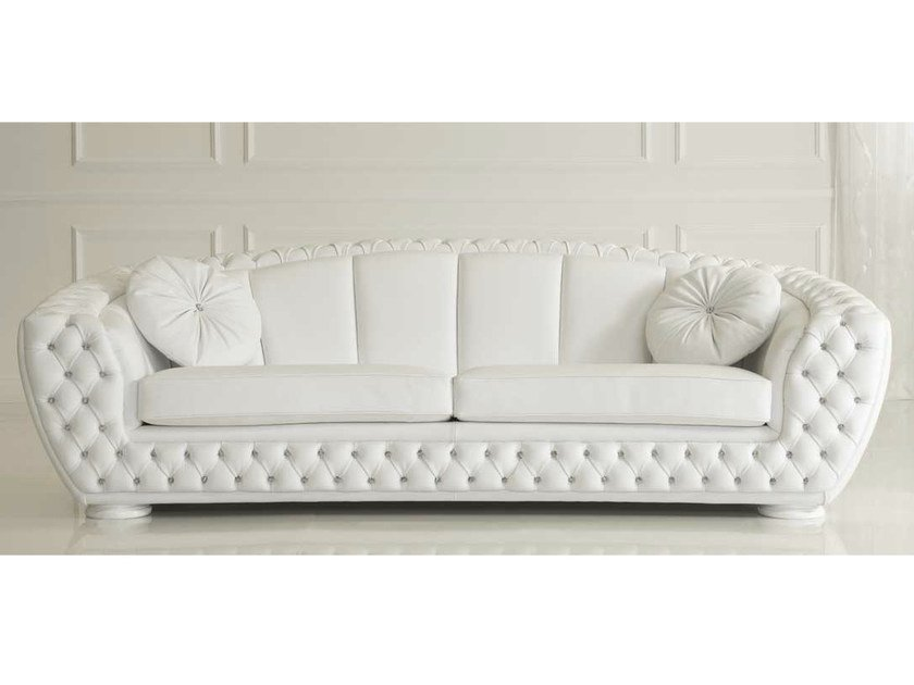 Tufted leather sofa FLORENCE | Leather sofa - Formenti