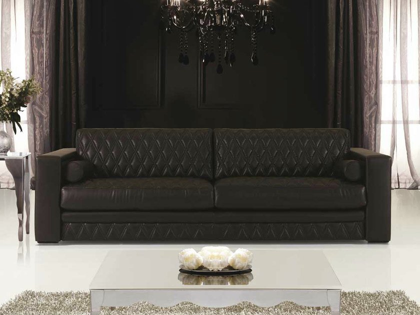 Tufted leather sofa LORD by Formenti
