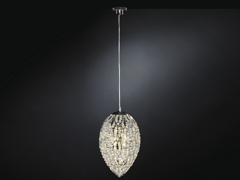 Glass and steel pendant lamp ARABESQUE 7511424.98 - VGnewtrend