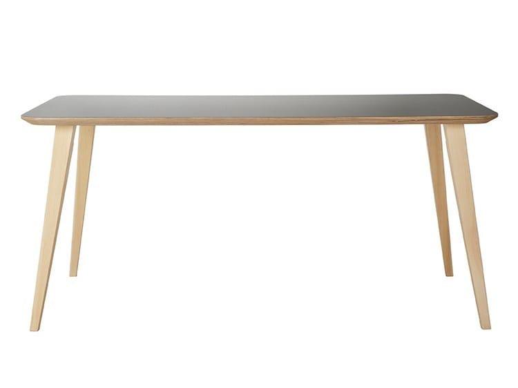Rectangular wooden table bob 75 by ondarreta design for Table 140 x 80 design