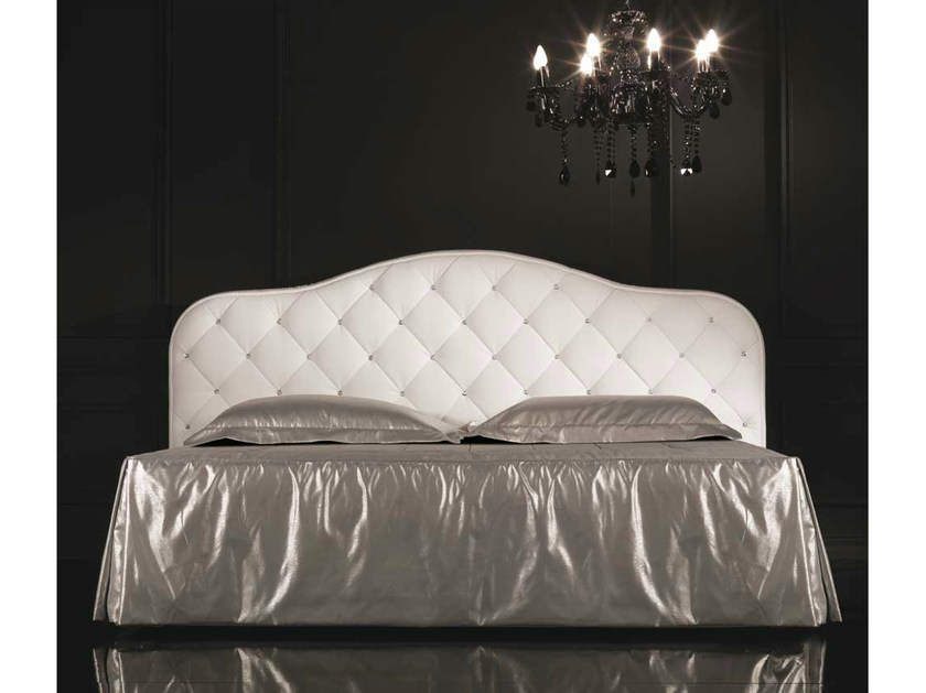 Upholstered double bed with upholstered headboard PASSION | Bed - Formenti